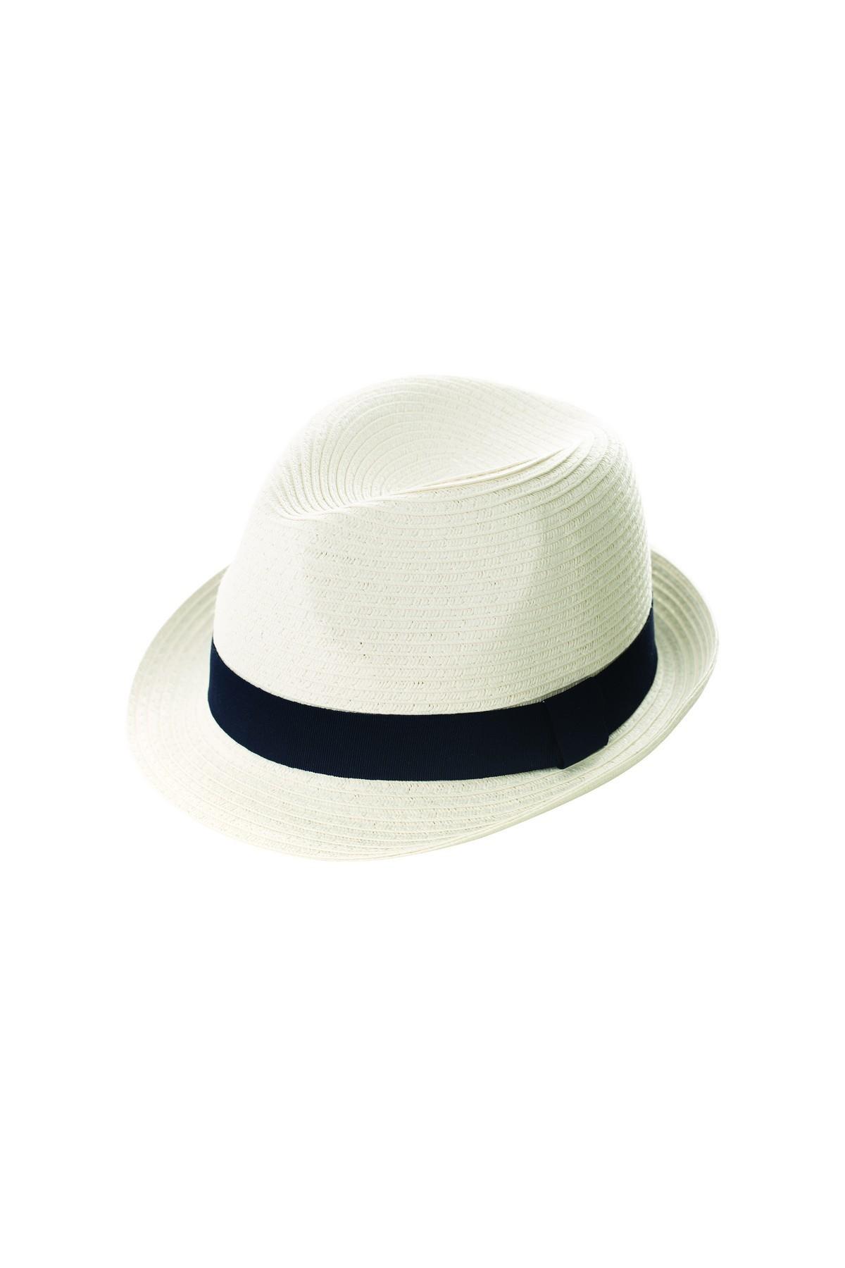 Καπέλο ψάθινο λευκό