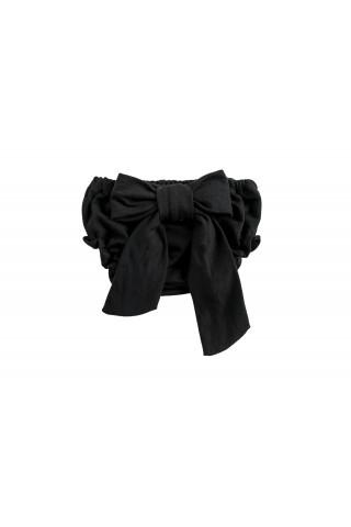 Μαύρη φουφούλα με φιόγκο