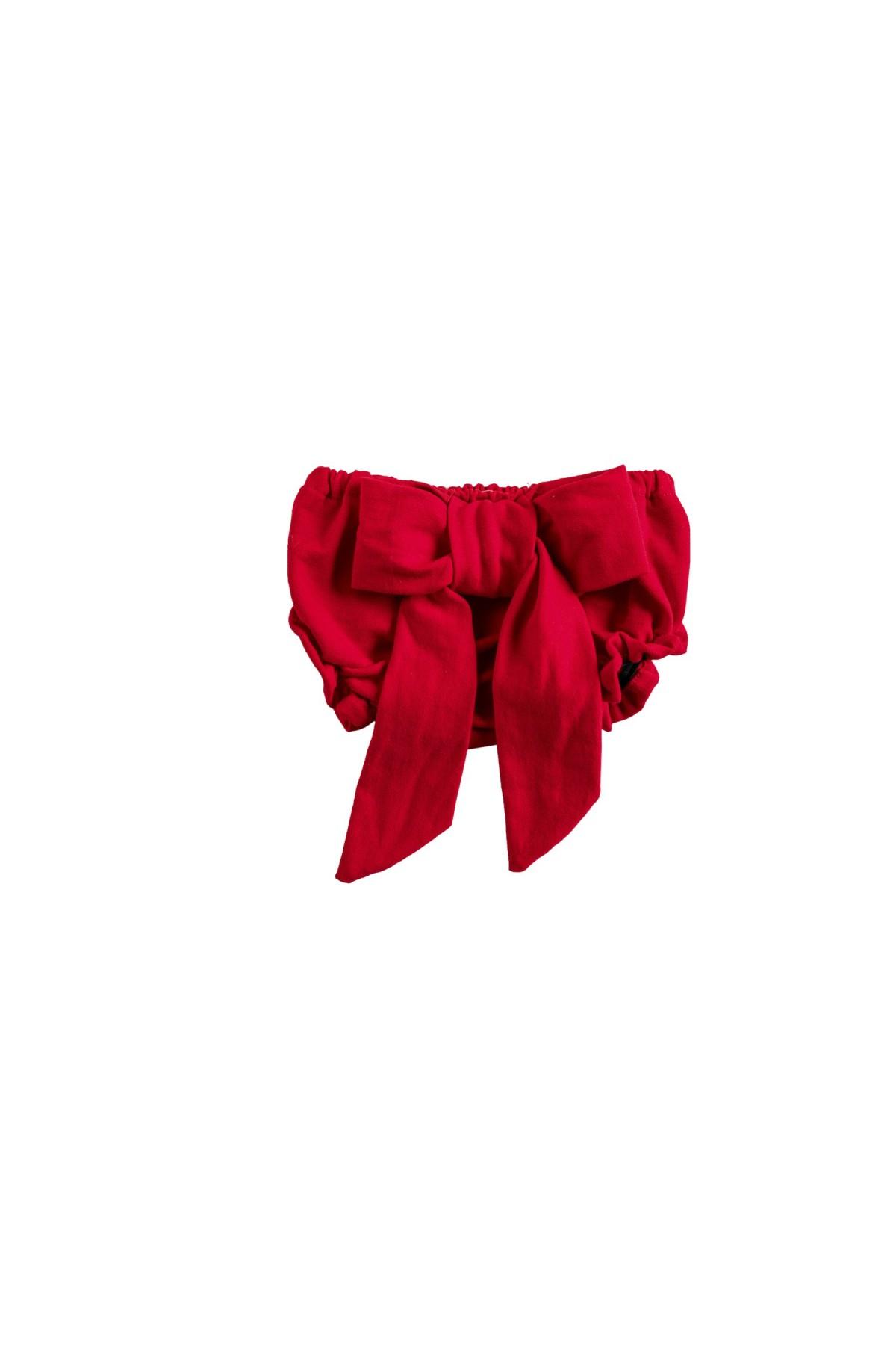 Κόκκινη φουφούλα με φιόγκο