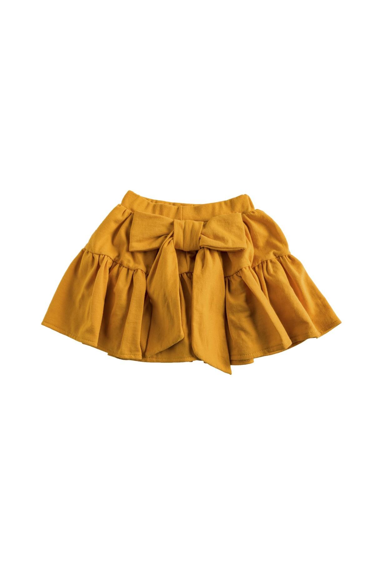 Κροκί φούστα με βολάν και φιόγκο