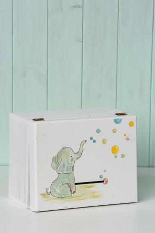 Κουτί ευχών ελεφαντάκι