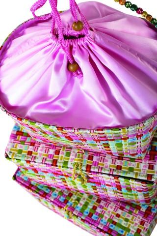 Κουτιά σετ/3 πολύχρωμα ροζ