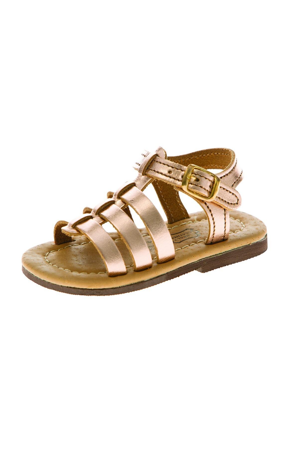 Πέδιλο gladiator ροζ χρυσό